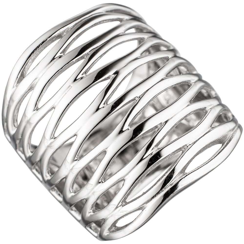 Breiter Silberring Ring Damenring 246mm breit 925 Silber