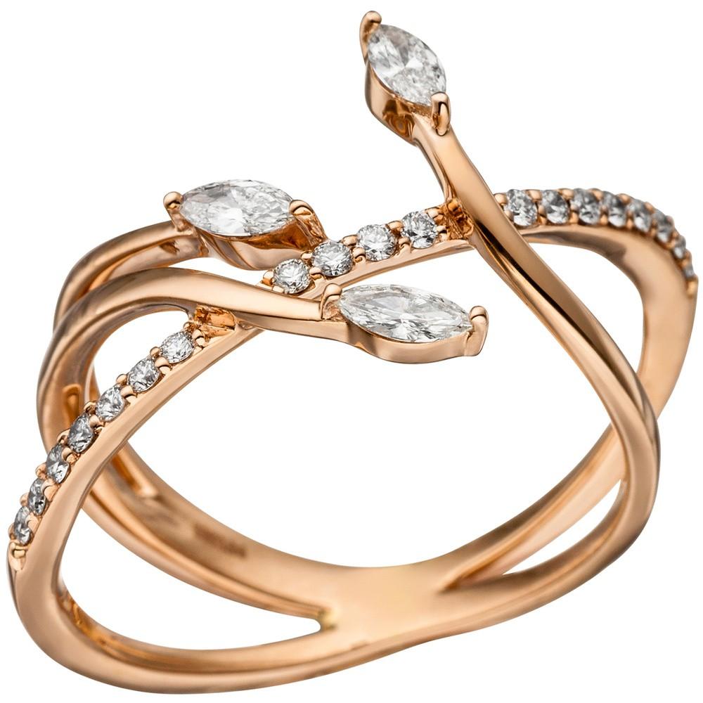 Ring Damenring mit 22 Diamanten Brillanten 585 Gold