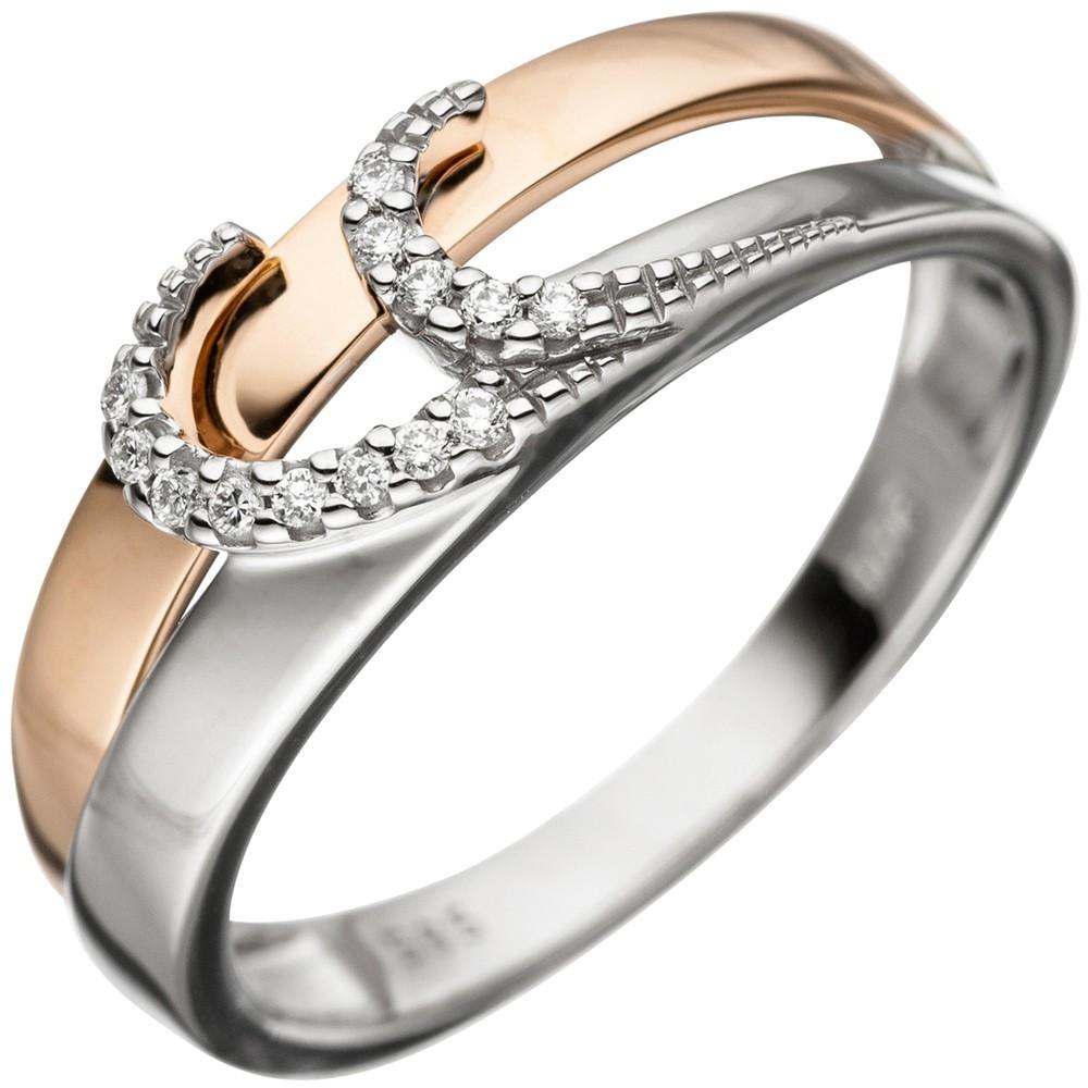 Ring Damenring mit 13 Diamanten Brillanten 585 Gold