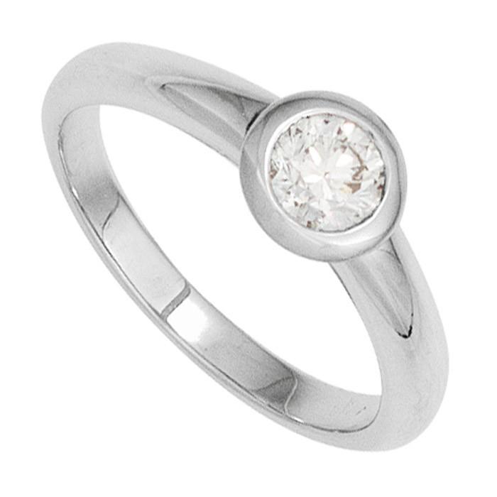Damenring Solitr Ring Diamant Brillant 010 Ct 585 Gold