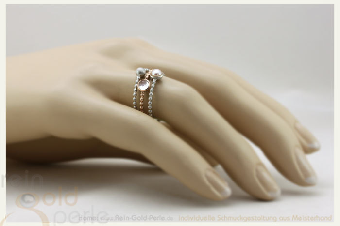Kgelchen Ring zart  Globe fine  Silber mit Kugel