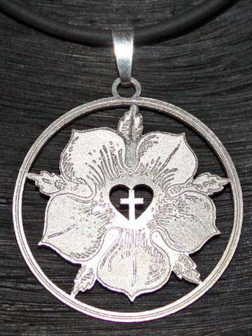 Martin Luther  Luther Rose Silber Anhnger