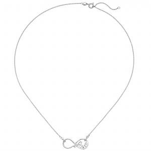 Deine SchmuckweltDamen Ring Unendlichkeit 925 Sterling Silber rhodiniert mit Zirkonia Silberring