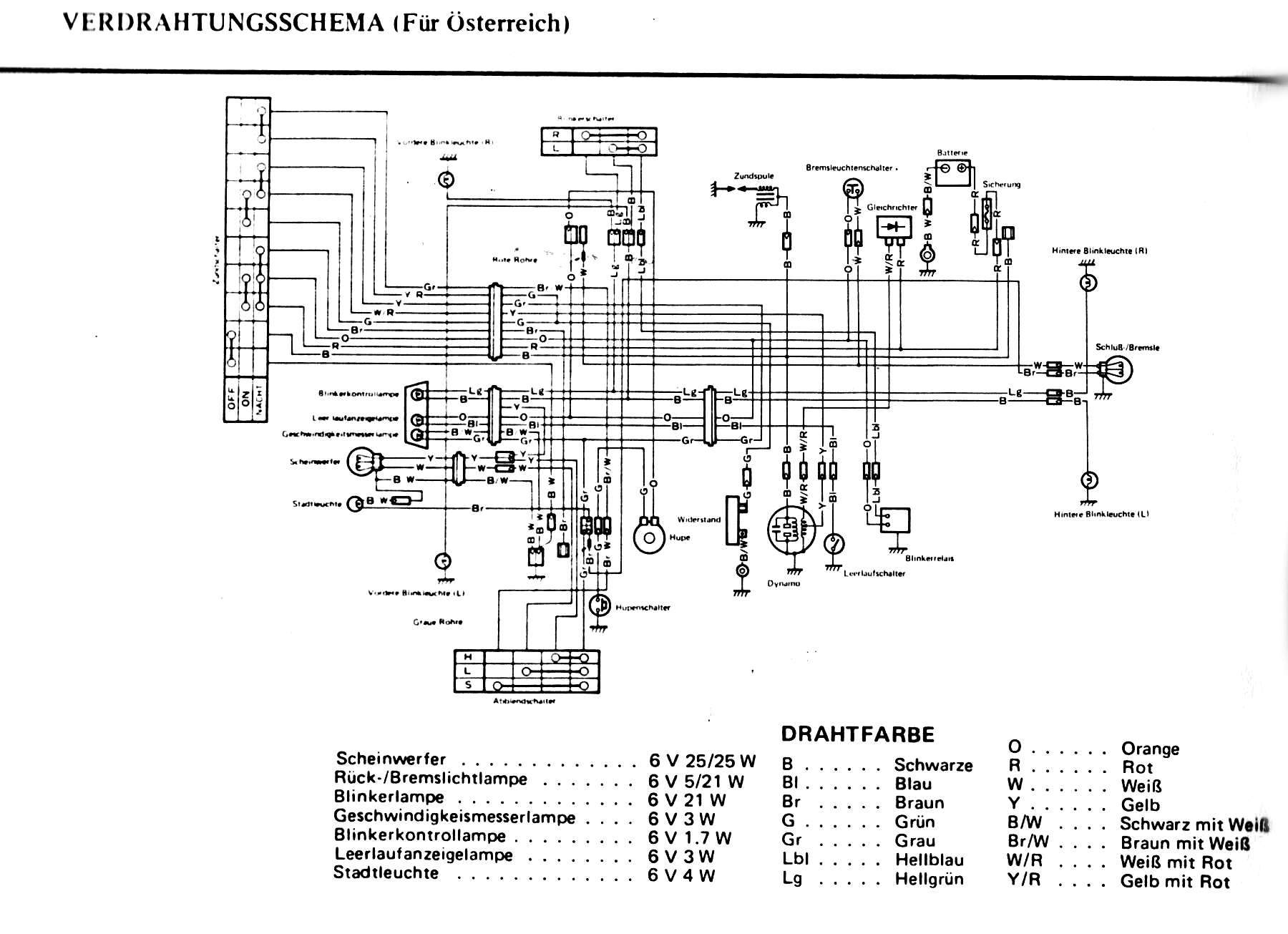 1987 Honda Goldwing Gl1000 Wiring Diagram