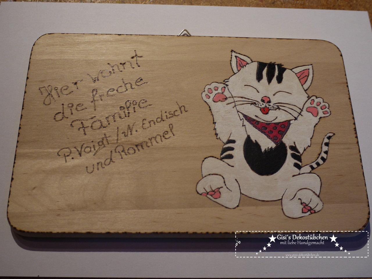 Turschild. Trschild. Engraved Oval Bark Board Wooden Board Tree Disc