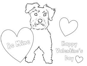 Puppy Dog Valentine Gifts & Coloring Pages