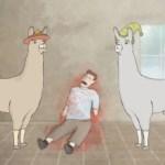 Lamas mit Hüten