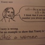 What's wrong with Tracey?