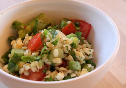 Mozzarella-Tomaten-Petersilie-Salat