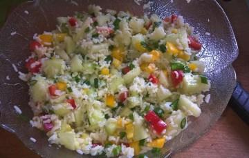 Reis-Melonen-Salat