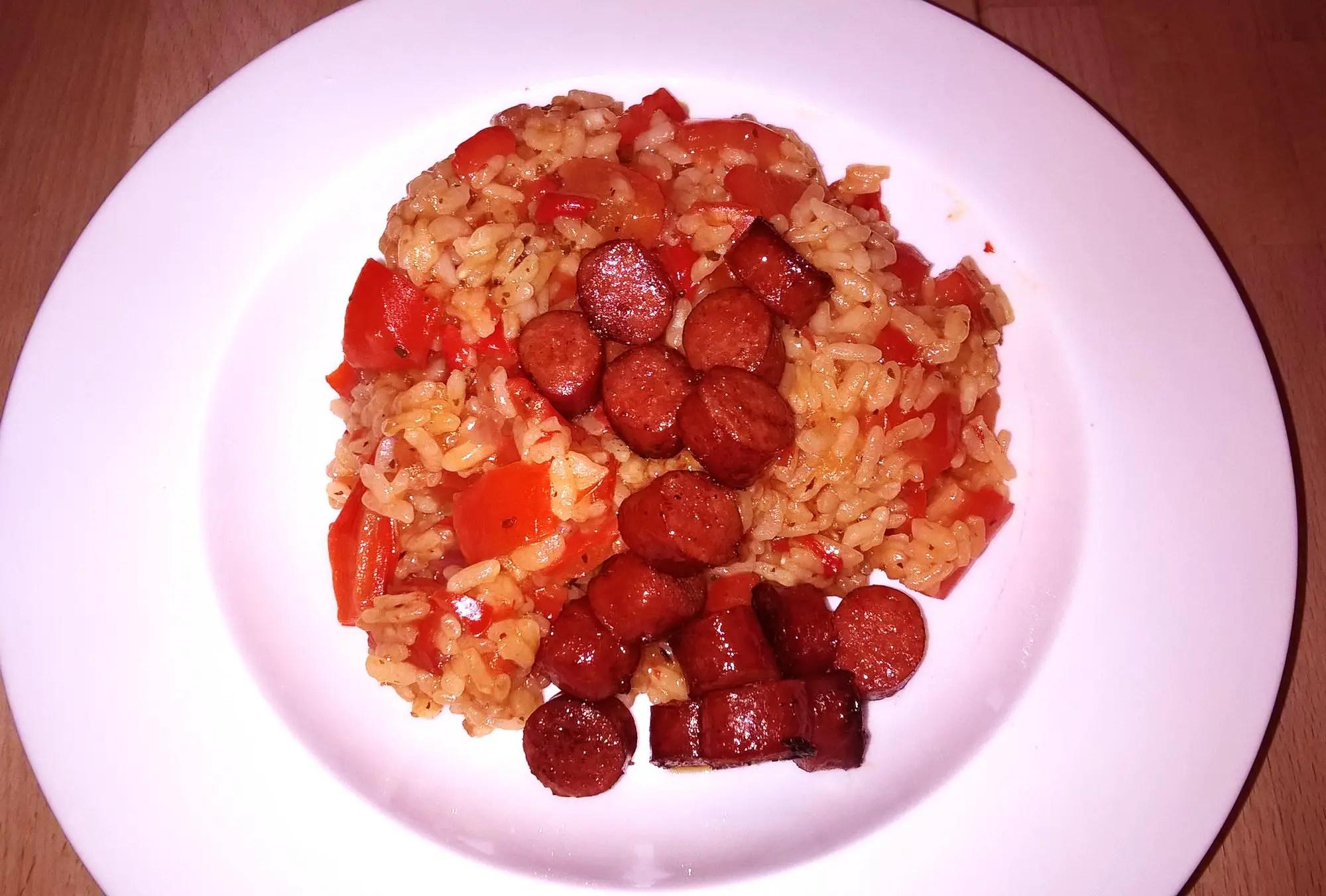 Paprika-Reis im Instant Pot