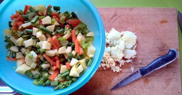 Gemüse für eine Minestrone