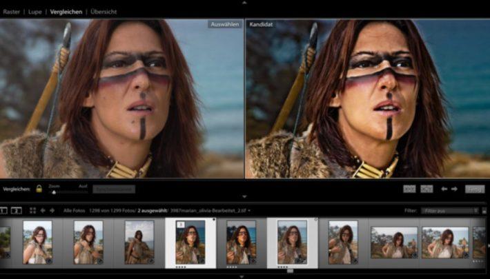 Steinzeitlady Marian nach der Bearbeitung in Lightroom und Photoshop im Cinema-Look