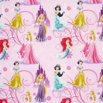32995-Disney-Prinzessinnen-rosa-lila-Gardinenstoff-