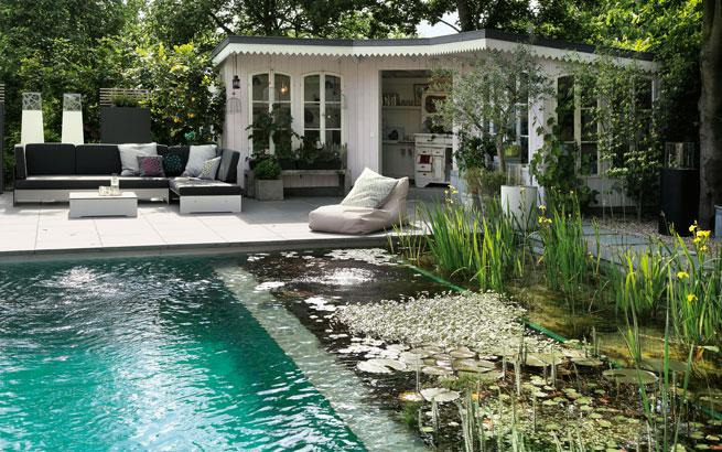 Schwimmteich im Garten So bauen Sie ein Biotop zum Bahnen