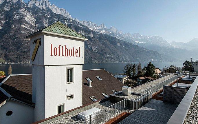 Besonderes Hotel in der Schweiz Lofthotel