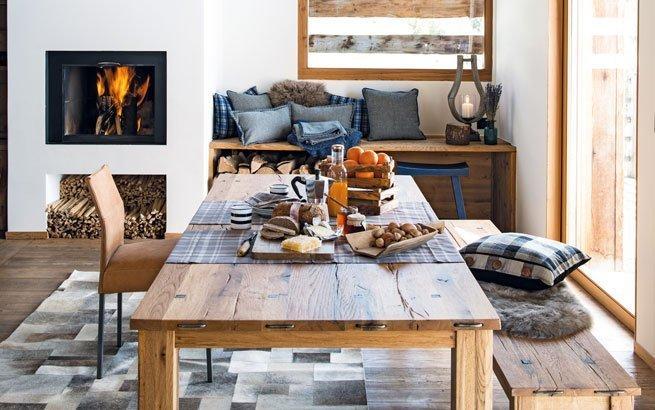 Wohnung einrichten im ChaletStil Gemtlich wie im Landhaus