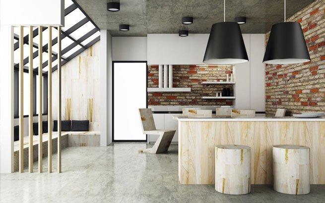 Puristisch wohnen Wohnkonzept mit minimalistischer