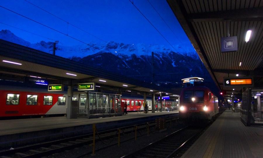 Ankunft in Innsbruck: Die Nordkette