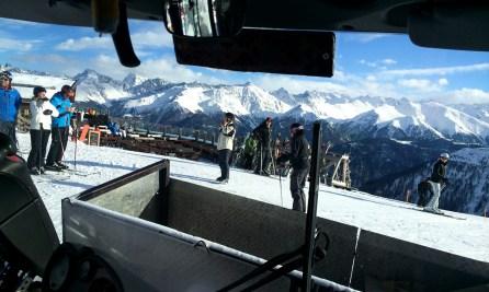 Blick aus dem Masnerexpress
