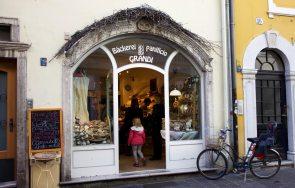 Bäckerei Bozen Panficio Grandi Eingang