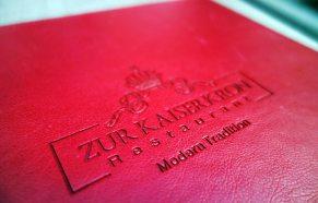 Menükarte Restaurant Zur Kaiserkron Bozen