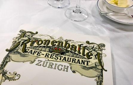 Kronenhalle Zürich - Weinkarte