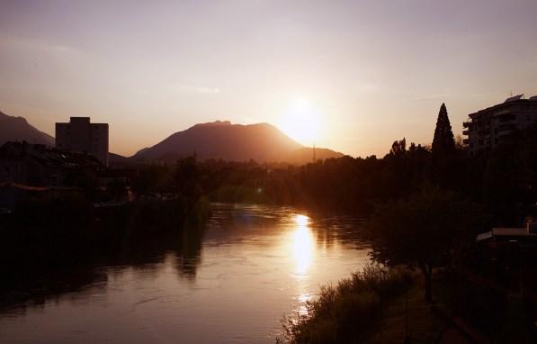 Villach Sonnenuntergang