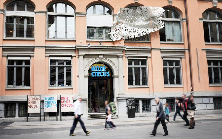 Fassade- Textilmuseum St. Gallen