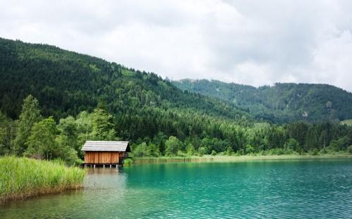 Bootshaus im Weissensee