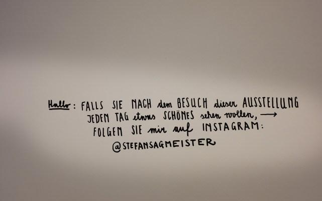 Stefan Sagmeister auf Instagram