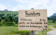 Schild Körbersee-Rundweg