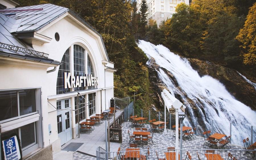 Kraftwerk unterhalb des Wasserfalls in Bad Gastein