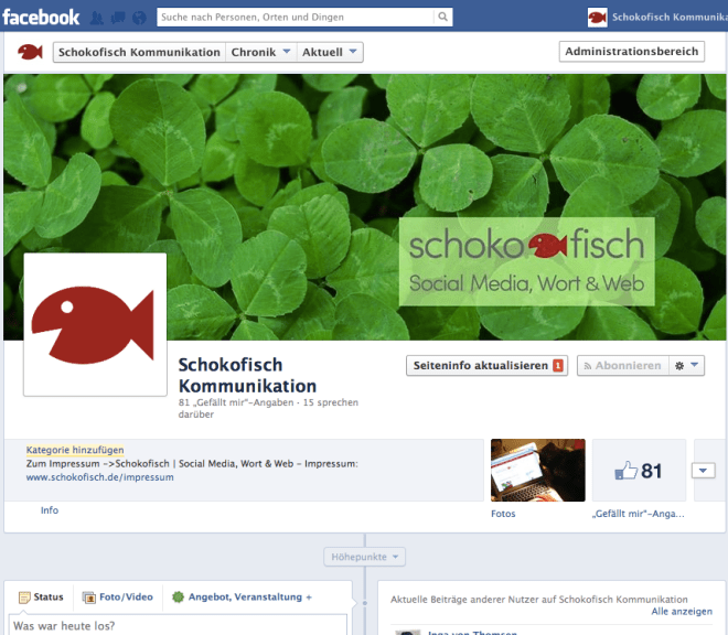 Facebook: Fanpage