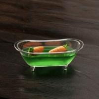Kleine runde Fingerfood Badewannen aus Polystyrol zur ...