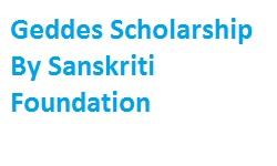 Geddes Scholarship