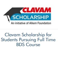 Clavam Scholarship for Students Pursuing Full Time BDS Course
