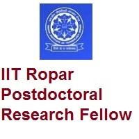 IIT Ropar Postdoctoral Research Fellow
