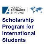 Konrad Adenauer Stiftung Scholarship Program for International Students