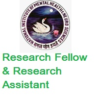 National Institute of Mental Health and Neurosciences Research Fellow and Research Assistant