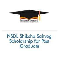 NSDL Shiksha Sahyog Scholarship for Post Graduate