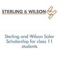 Sterling and Wilson Solar Scholarship for class 11 students
