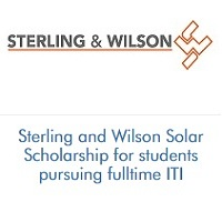 Sterling and Wilson Solar Scholarship for students pursuing fulltime ITI