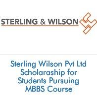 Sterling Wilson Pvt Ltd Scholarship for Students Pursuing MBBS Course