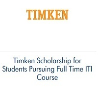 Timken Scholarship for Students Pursuing Full Time ITI Course