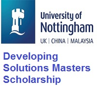 University of Nottingham Developing Solutions Masters Scholarship