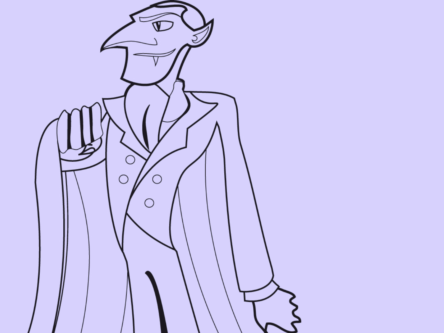 Halloween Coloring Page Dracula