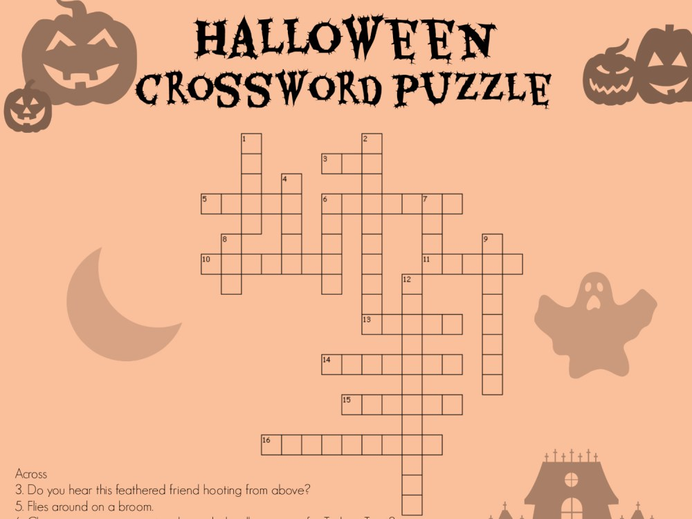 medium resolution of Halloween Crossword   Worksheets \u0026 Printables   Scholastic   Parents