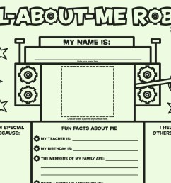 All About Me Robot: Fill-in Poster   Worksheets \u0026 Printables   Scholastic    Parents [ 1125 x 1500 Pixel ]