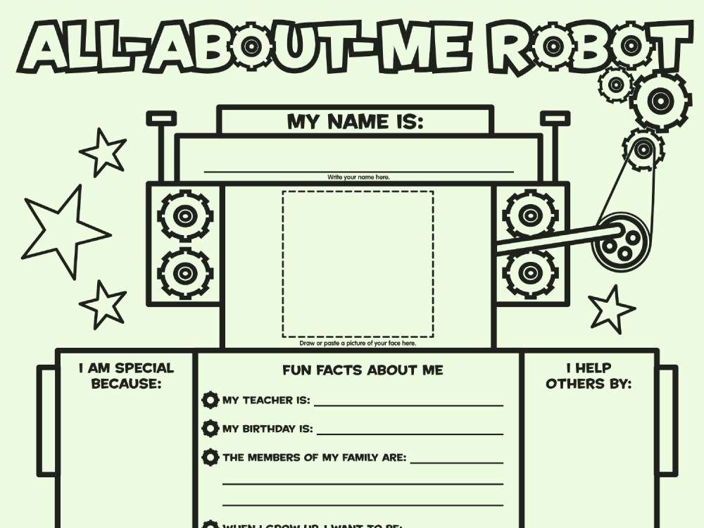 medium resolution of All About Me Robot: Fill-in Poster   Worksheets \u0026 Printables   Scholastic    Parents